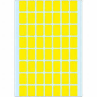 Etikett 12X18mm gelb 1792 Stück