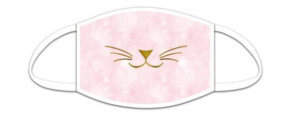 Mund Nasen Maske für Kids aus Stoff, Kätzchen, waschbar bis 70°, kein Medizinprodukt