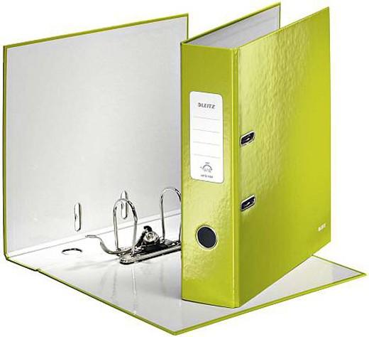 Leitz Ordner WOW, A4, breit, grün metallic - Qualitäts-Ordner von Leitz