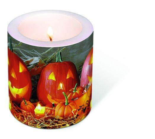 Kerze Windlicht Pumpkin king