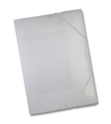 Sammel-Mappe A3 mit Gummi Band Kunststoff weiß
