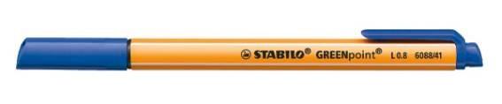 Faserschreiber Stabilo Greenpoint 608841 blau