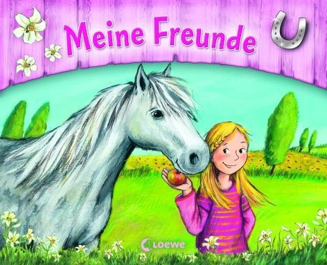 Freundebuch Ponyhof ab 6J Hardcover wattierte Decke