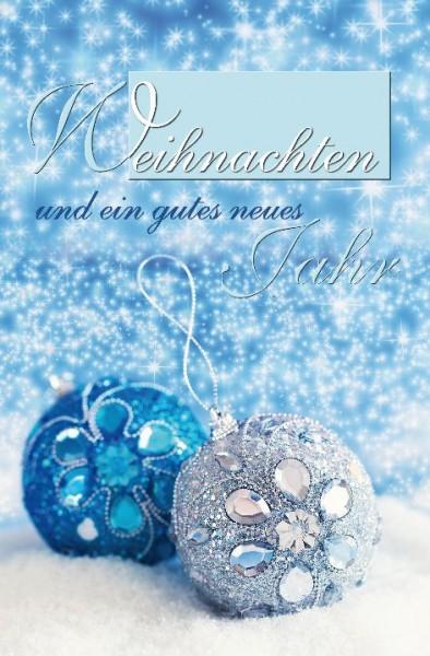Karte Weihnachten Motiv Doppeltext zwei