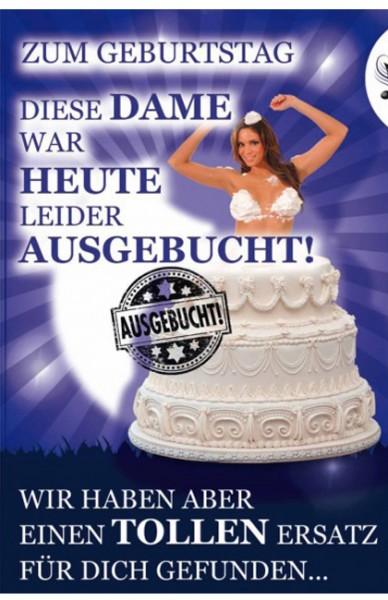"""Geburtstagskarte mit Musik & Licht - """"Sahneschnitte"""" - Soundkarte"""