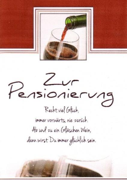 Karte Pension Motiv Ein Glas Rotwein