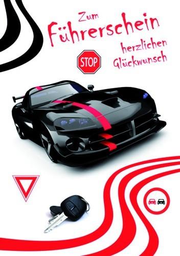Karte Führerschein Motiv Doppelkarte schwarzes