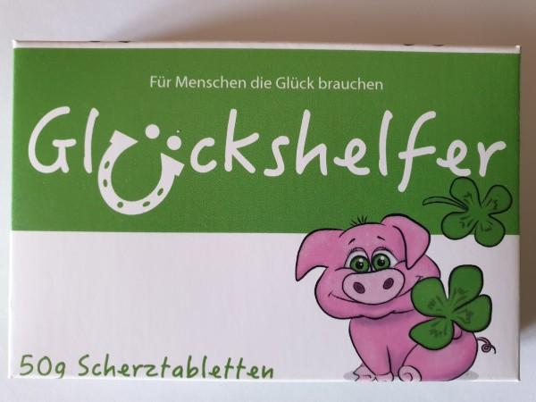"""Schokolinsen Scherztabletten """"Glückshelfer"""" - Kleine Apotheke Lebenshelfer"""