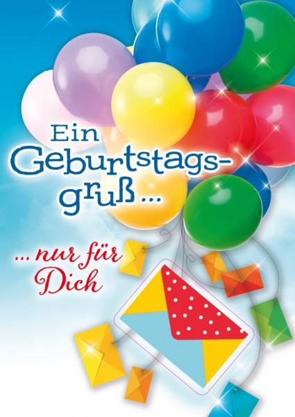 """Great Cards """"Luftballons - Geldkarte"""" - Erfülle Dir einen Wunsch zum Geburtstag, mit Musik"""