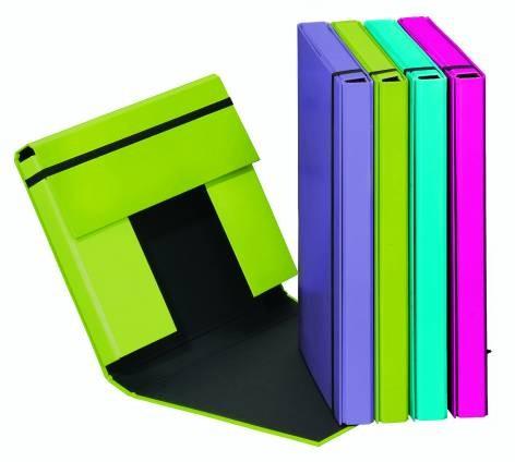 Heftbox A4 Trend Colours mit Gummizugverschluss