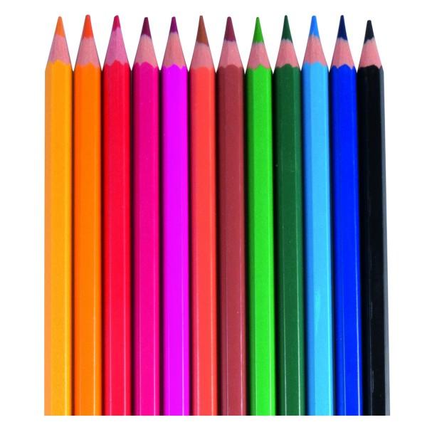 Mini Farbstifte Color, 12er Schachtel, Bruchsichere kurze holzfreie Buntstifte