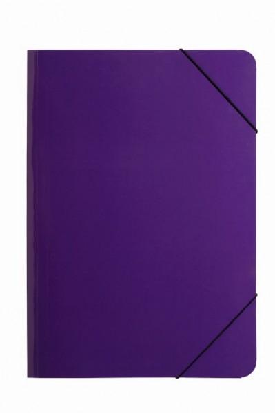 Gummizugmappe A4 Trend Colours PP lila