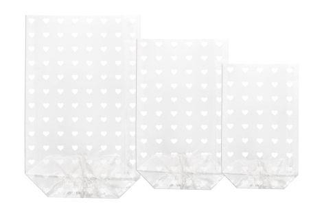 Klarsichtbeutel PP 30my 100er 14,5x23,5cm Herzen