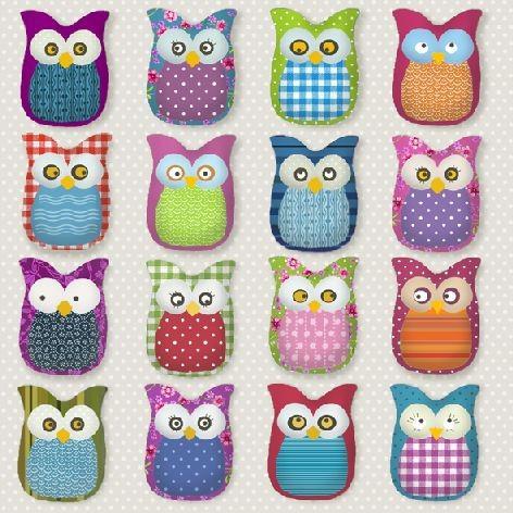 Serviette 33x33cm 3-lagig Atelier 20ST Many Owls