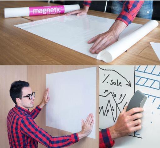 Haftnotiz Magnetic-Boards 840x590mm weiß 20er Pack