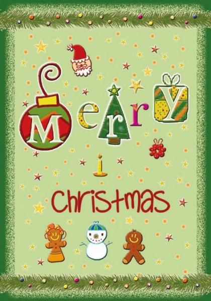 Karte Gruß Weihnachten Merry Christmas Sterne