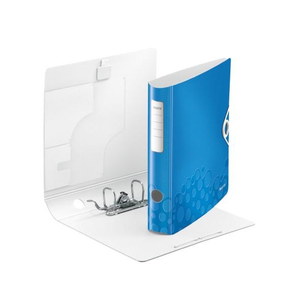 Ordner A4 schmal Wow blau metallic Leitz