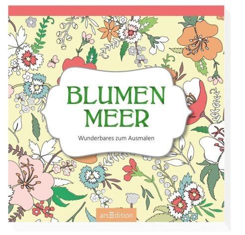 Malblock Mini Blumenmeer 80 Seiten 15x15cm