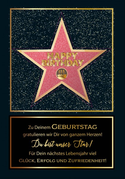 "Great Cards ""Du bist unser Star - Simply the Best"" - Star für Dich, mit Musik"