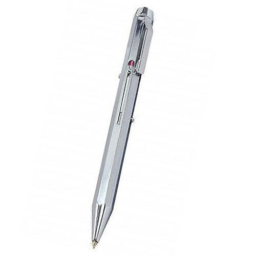 Vierfarb-Kugelschreiber aus Metall mit Schiebemechanik, Vierfarbenkugelschreiber