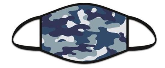 Mund Nasen Maske aus Stoff, Camouflage, waschbar bis 70°, kein Medizinprodukt