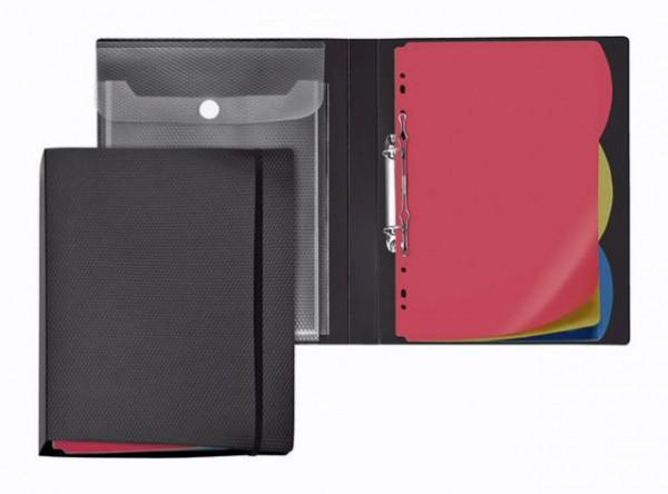 Ringbuch Arbeitsmappe A4 PP Diamond 20mm schwarz