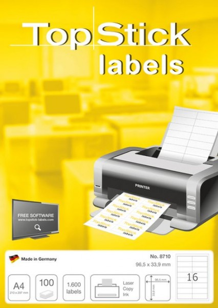 Etikett ILK 96,5x33,9mm weiss 1600ST Inkjet,Laser