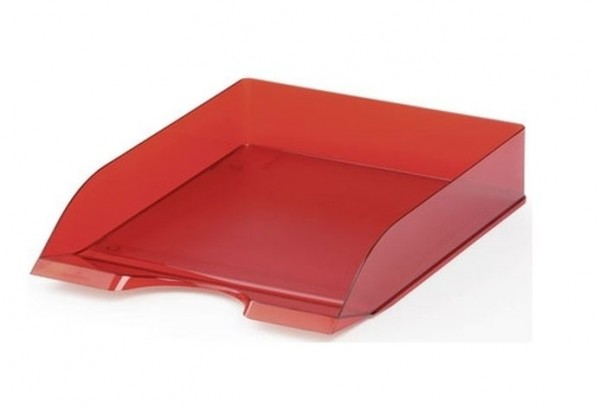 Briefkorb A4 Basic transluzent rot