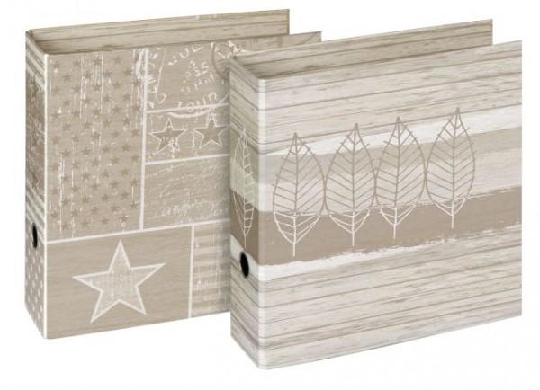 Ordner Natura, Karton matt/Karton matt, A4, 289 x 315 mm, 85 mm, sortiert