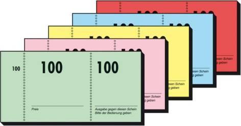 Garderobenblock Gn101 Nr1-100 1 Block 10,5X5Cm
