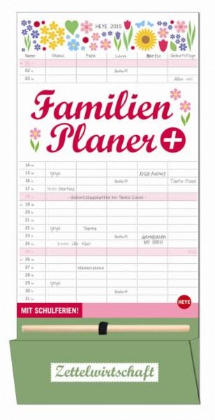Familienplaner 5 Spalten mit Stift und
