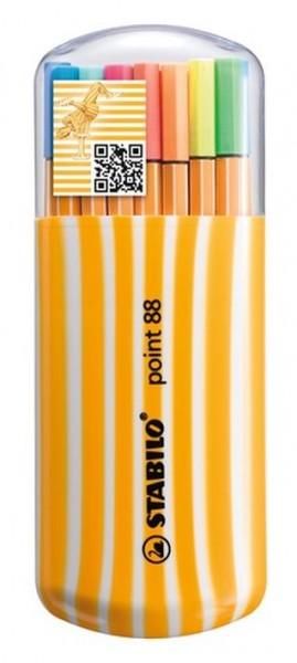 Stabilo Point 88 Zebrui Box 20er inkl 5Neonfarben