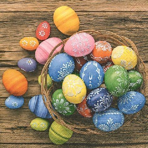 Serviette 33x33cm 3-lagig 20 Stück Dyed eggs