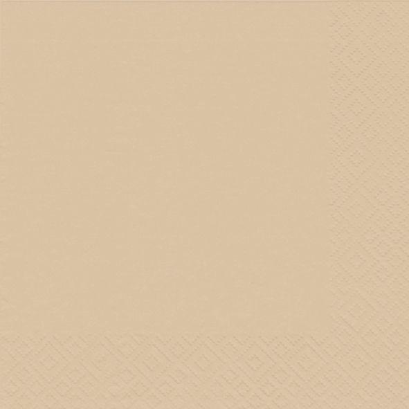 Serviette Zellstoff 33x33cm sand 20St