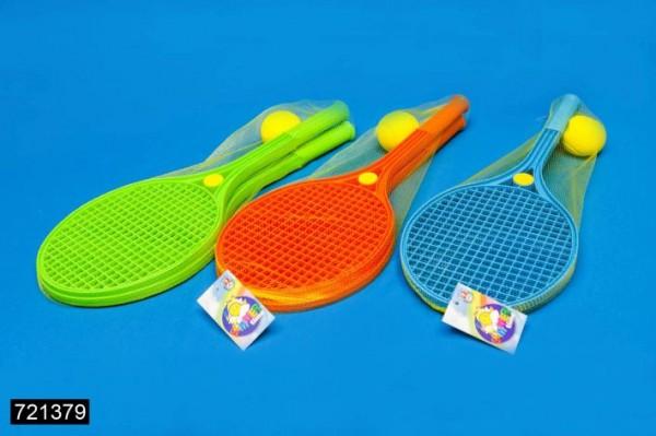 Tennisball Set 2 Schläger 54cm und 1 Softball *