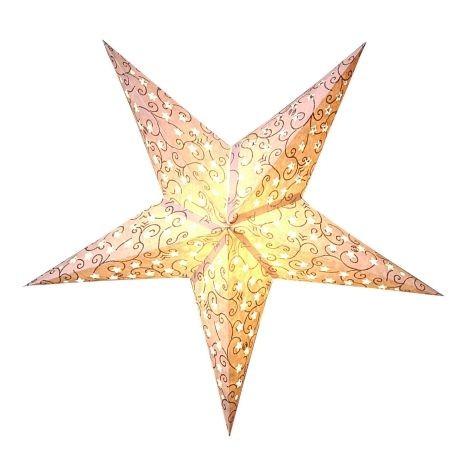 Beleuchtung Papier Stern 5zackig creme 60cm