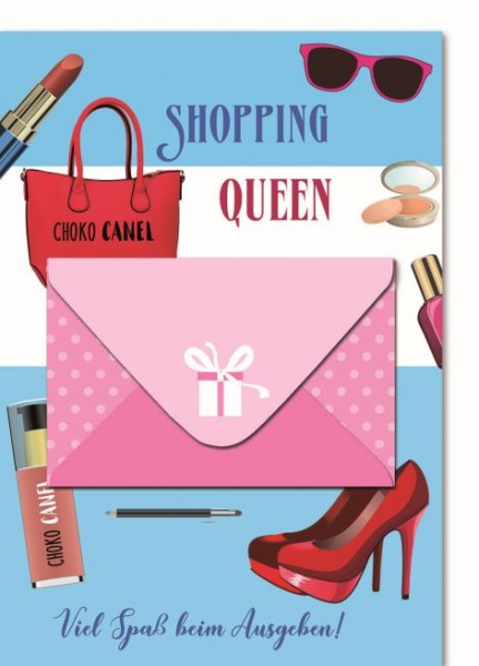Karte Geldbrief Shopping Queen
