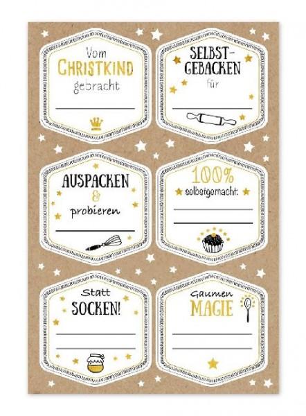 Sticker gross Bäckerei 24 Sticker im Pack