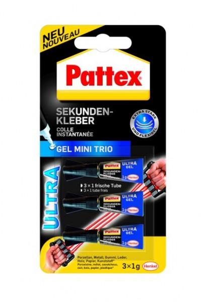 Pattex Sekundenkleber Ultra Gel 3x1g Tube