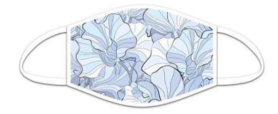 Mund Nasen Maske aus Stoff, Flowers, waschbar bis 70°, kein Medizinprodukt