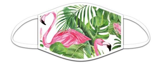 Mund Nasen Maske aus Stoff, Motiv Flamingo, waschbar bis 70°, kein Medizinprodukt
