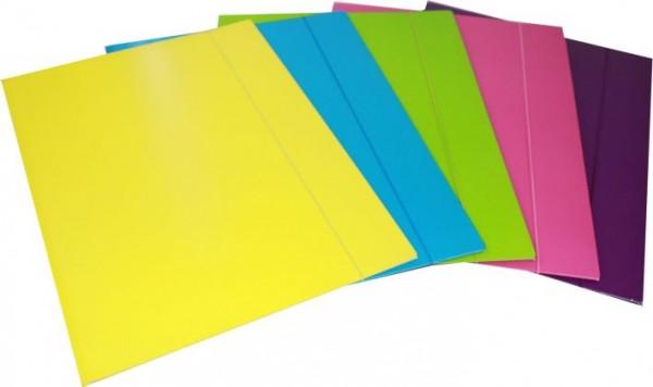 Sammelmappe A3 unifarben Neon sortiert Gummizug