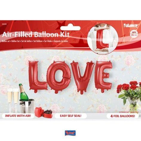 Folienballon Buchstaben Set Love bunt 36cm