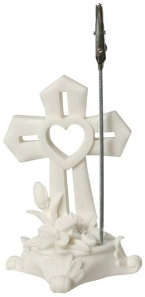 Clip für Geld mit Kreuz stehend weiß