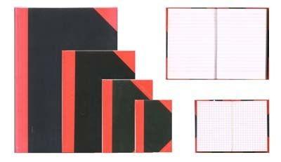 Kladde China A5 100 Blatt schwarz rot kariert