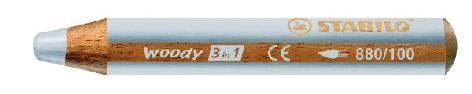 Farbstift Stabilo-Woody 3in1 880-100 Weiss
