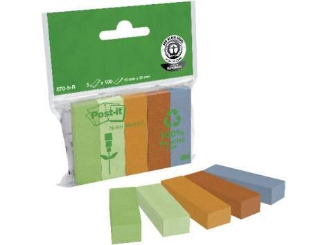 Haftstreifen Post-it Papi, 15x50mm Bunt 5-Farben 5x1