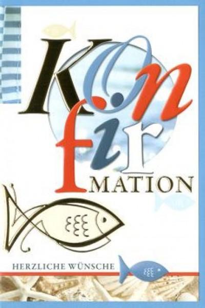 Karte Konfirmation Motiv Fisch Symbol und farbig