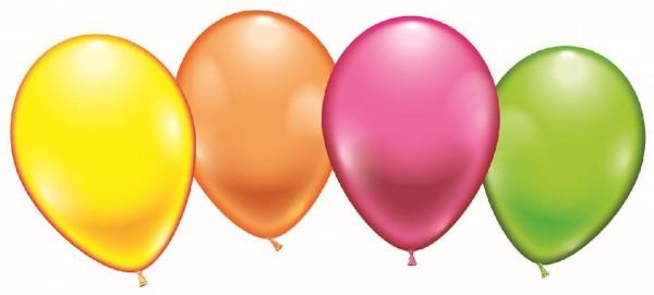 Luftballon rund neon 8 Stück 23-25cm
