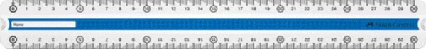 Lineal Grip 30cm Trendfb blau-grün Kunststoff mit